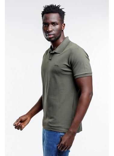 Slazenger Slazenger BASKET Erkek T-Shirt K. Haki